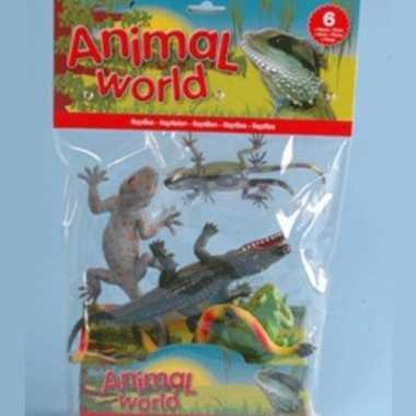 Groothandel set van 6 speelgoed reptielen kopen