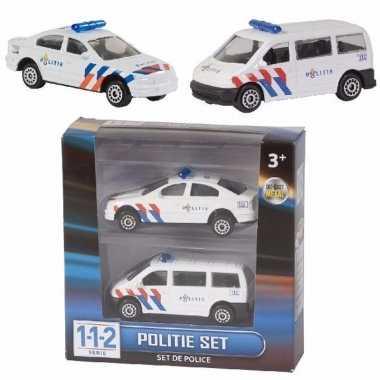 Groothandel setje van 2 speelgoed politiewagens kopen