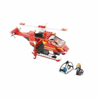 Groothandel sluban bouwsteentjes redding helikopter speelgoed