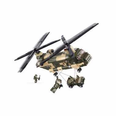 Groothandel sluban bouwstenen chinook helikopter speelgoed kopen