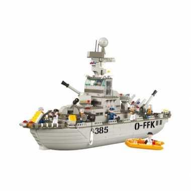 Groothandel sluban bouwstenen kruiser 64 cm speelgoed kopen