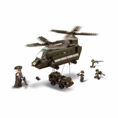 Groothandel sluban bouwstenen transporthelikopter speelgoed kopen