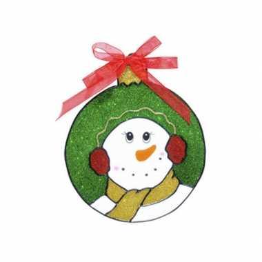 Groothandel sneeuwpop raam versiering 18 cm speelgoed kopen