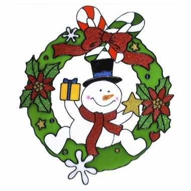 Groothandel sneeuwpop raam versiering 30 cm speelgoed kopen