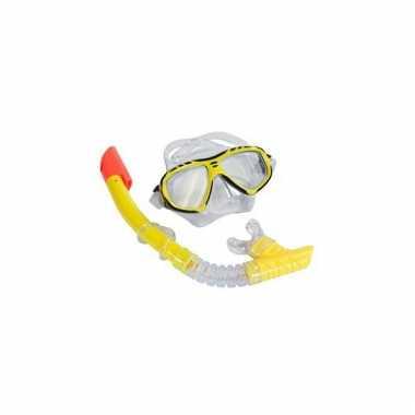 Groothandel snorkel set geel voor volwassenen speelgoed kopen