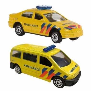Groothandel speelgoed 112 ambulance set 2-delig kopen