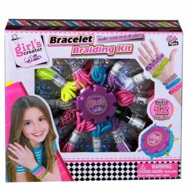 Groothandel speelgoed armbandjes vlechten set kopen