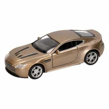 Groothandel speelgoed aston martin vantage goud welly autootje 1:36 k