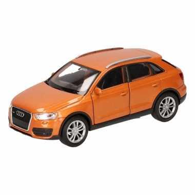 Groothandel speelgoed audi q3 oranje autootje 12 cm kopen