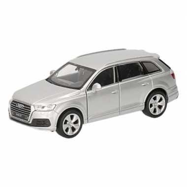 Groothandel speelgoed audi q7 zilver autootje 12 cm