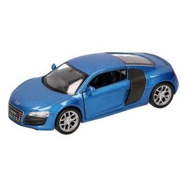 Groothandel speelgoed audi r8 blauw welly autootje 11,5 cm kopen
