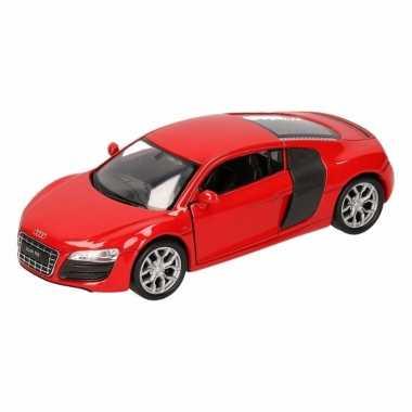 Groothandel speelgoed audi r8 rood welly autootje 11,5 cm kopen