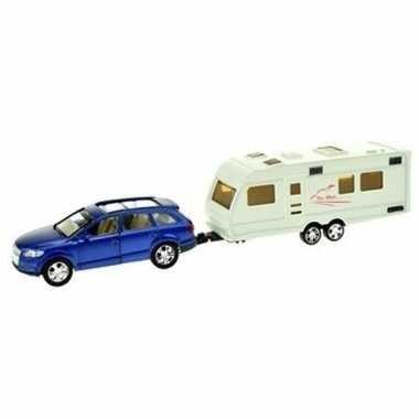 Groothandel speelgoed auto met caravan blauw voor jongens kopen
