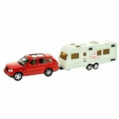 Groothandel speelgoed auto met caravan rood voor jongens kopen