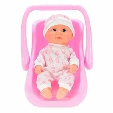 Groothandel speelgoed babypop beren rompertje in draagstoeltje kopen
