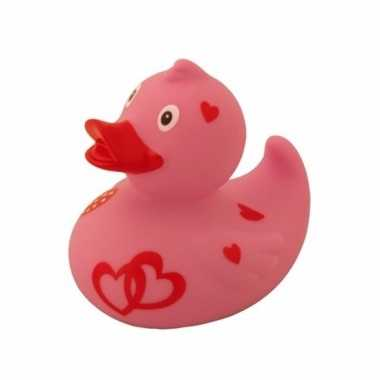 Groothandel speelgoed badeend met hartjes 8 cm kopen