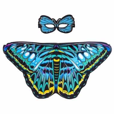 Groothandel speelgoed blauwe aurelia vlinder verkleedset kopen