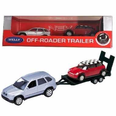 Groothandel speelgoed bmw met auto op aanhanger 1:60 kopen