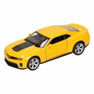Groothandel speelgoed chevrolet camaro zl1 geel welly autootje 1:36 k