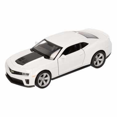 Groothandel speelgoed chevrolet camaro zl1 wit welly autootje 1:36 ko
