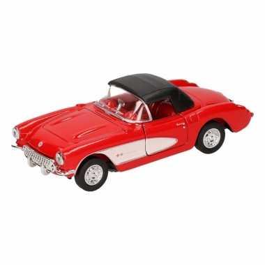 Groothandel speelgoed chevrolet corvette rode cabriolet gesloten 12 c