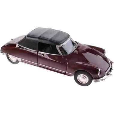 Groothandel speelgoed citroen ds19 bordeaux rood autootje 1:36 kopen
