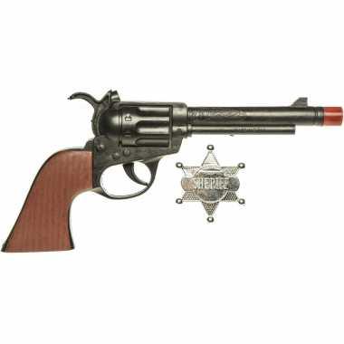 Groothandel speelgoed cowboy pistool met sheriff ster 24 cm kopen