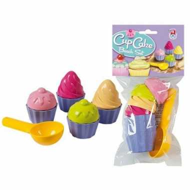 Groothandel speelgoed cupcake zandvormen 9 delig kopen