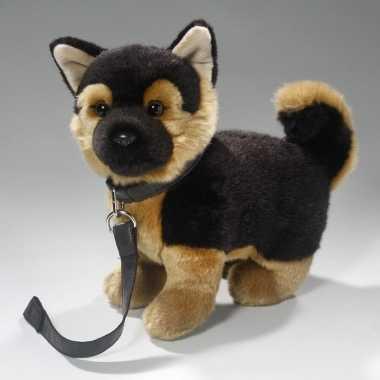 Groothandel speelgoed duitse herder puppy/hondje knuffel aan lijn 25