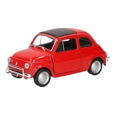 Groothandel speelgoed fiat 500 classic rood welly autootje 1 36