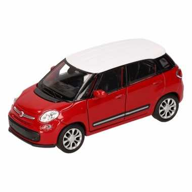 Groothandel speelgoed fiat 500 l rood wit welly autootje 11,5 cm kope