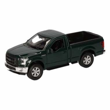 Groothandel speelgoed ford f-150 pick up truck donkergroen 12 cm kope