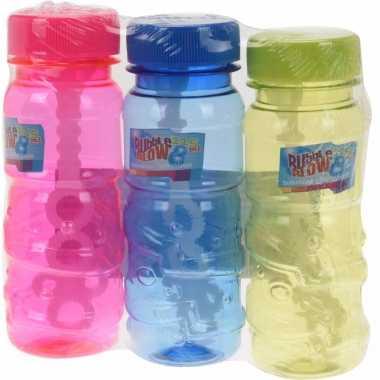 Groothandel speelgoed gekleurde bellenblaas flesjes 3 stuks x 115ml k