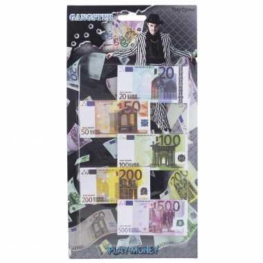 Groothandel speelgoed geld euro biljetten setje op headercard kopen