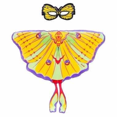 Groothandel speelgoed gele komeetstaart vlinder verkleedset kopen