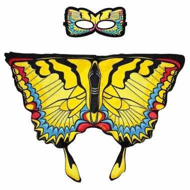 Groothandel speelgoed gele zwaluwstaart vlinder verkleedset kopen