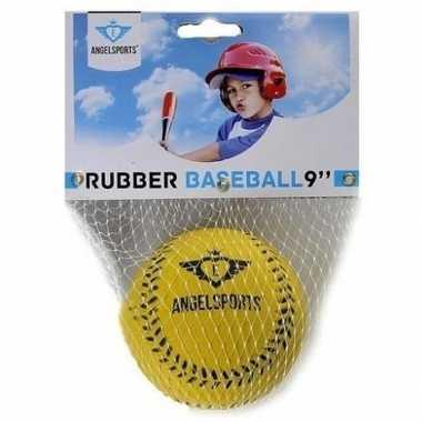 Groothandel speelgoed honkbal geel 7 cm kopen