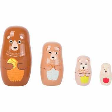 Groothandel speelgoed houten beren baboesjka set kopen