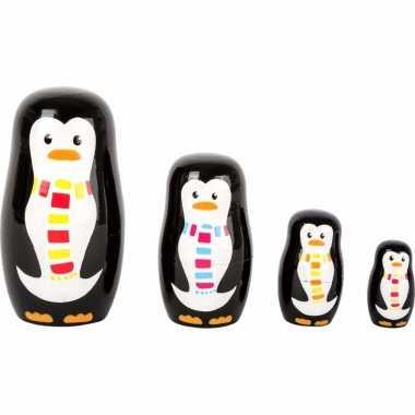 Groothandel speelgoed houten pinguins baboesjka set kopen