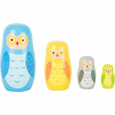 Groothandel speelgoed houten uilen baboesjka set kopen