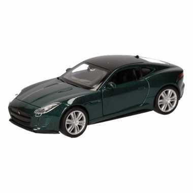 Groothandel speelgoed jaguar f-type coupe donkergroen autootje 12 cm