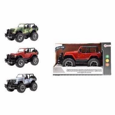 Groothandel speelgoed jeep wrangler geel welly met licht en geluid 27