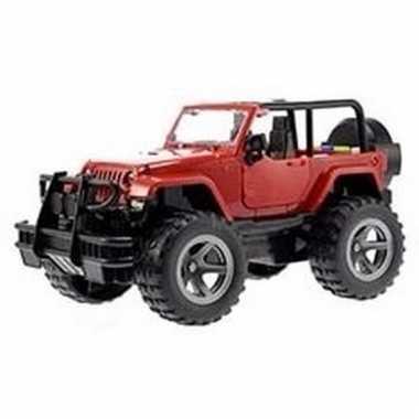 Groothandel speelgoed jeep wrangler rood welly met licht en geluid 27