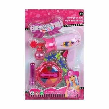 Groothandel speelgoed kapper/kapsalon set roze voor meisjes kopen