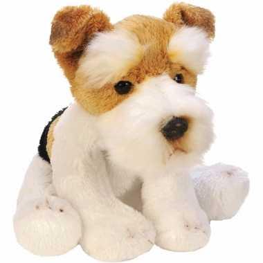 Groothandel speelgoed knuffel pluche hond fox terrier 13 cm kopen