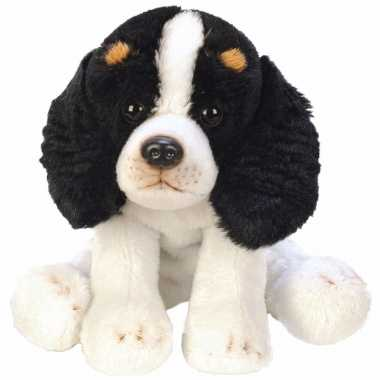 Groothandel speelgoed knuffel pluche king charles spaniel 13 cm