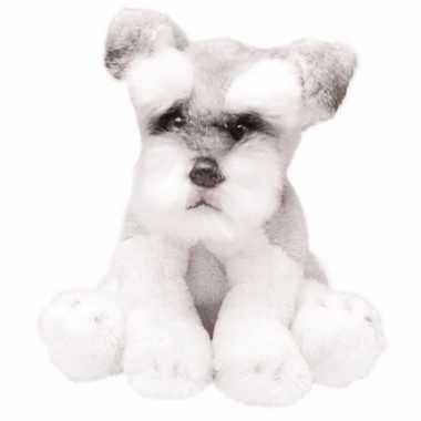 Groothandel speelgoed knuffel pluche schnauzers wit/grijs 13 cm kopen