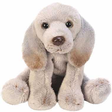 Groothandel speelgoed knuffel pluche weimaraner grijs13 cm