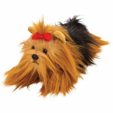 Groothandel speelgoed knuffel pluche yorkshire terrier 33 cm kopen