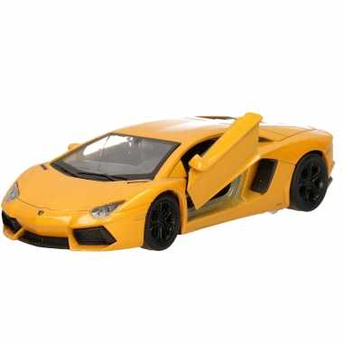 Groothandel speelgoed lamborghini aventador lp700-4 geel welly autoot